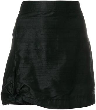 Giorgio Armani Pre-Owned Side Tie Mini Skirt