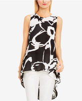 Vince Camuto High-Low Floral-Print Tunic