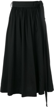 Lemaire Gathered Midi Skirt