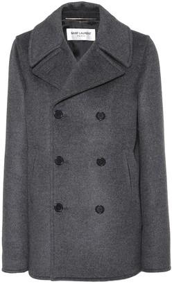 Saint Laurent Wool, angora and cashgora coat