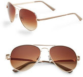Steve Madden 63mm Aviator Sunglasses