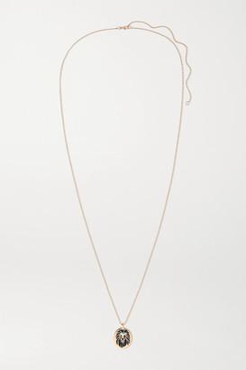 Diane Kordas 18-karat Rose Gold, Enamel, Diamond And Sapphire Necklace - one size