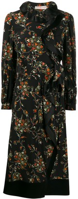 Tory Burch Sacred Floral ruffle panel dress