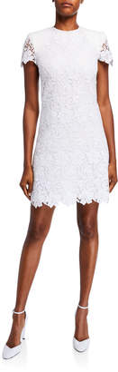 Givenchy Floral Guipure Short Flared Dress