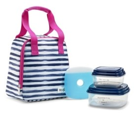 Fit & Fresh Garreston Insulated Lunch Bag Kit with Bpa-Free Containers