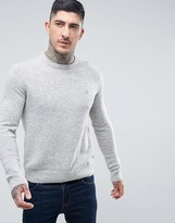 Farah Rosecroft Lambswool Jumper In Grey