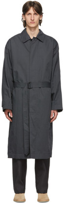 Lemaire Grey Belted Overcoat