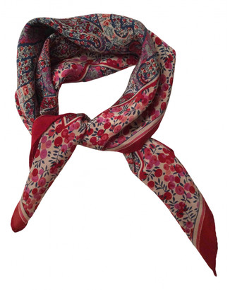 Liberty of London Designs Red Silk Scarves