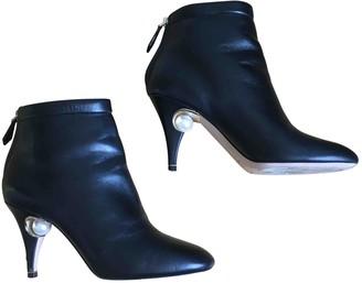 Nicholas Kirkwood Black Leather Boots