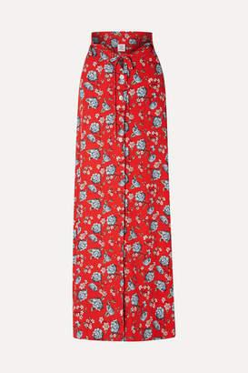 Vetements Floral-print Crepe Maxi Skirt - Red