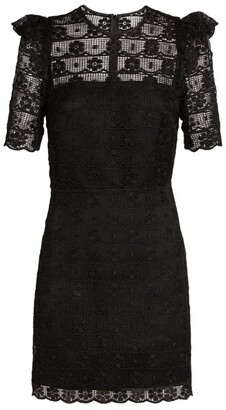 Sandro Paris Embroidered Lace Dress