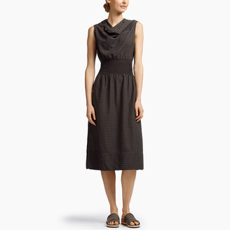 James Perse Barre Striped Drape Collar Dress