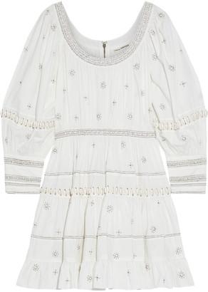 Ulla Johnson Adama Embellished Cotton-poplin Mini Dress