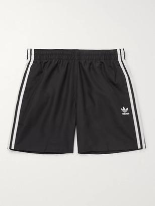 adidas Mid-Length Striped Swim Shorts