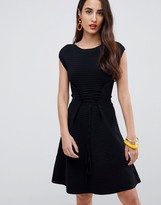 French Connection Kai Knitted Skater Dress with Lacing