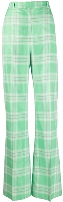 Essentiel Antwerp Visarro tartan-print trousers