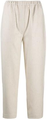 Tela Cropped Straight-Leg Trousers