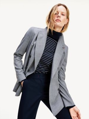 Tommy Hilfiger Double-Breasted Relaxed Fit Wool Blazer