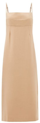 Haight Paula Side-slit Twill Dress - Beige