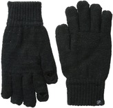 Plush Fleece - Lined Metallic Knit Smartphone Gloves
