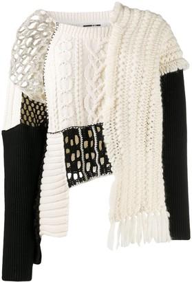 McQ Tama patchwork knit jumper