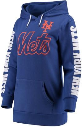 G Iii Women's G-III 4Her by Carl Banks Royal New York Mets Extra Innings Pullover Hoodie