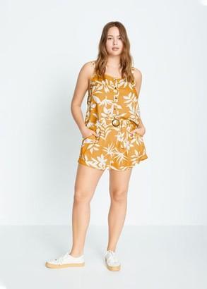 MANGO Tropical print shorts