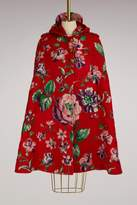 Gucci Floral brushed mohair cape