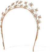 Jennifer Behr Starlight Gold-plated Swarovski Crystal Headband - Rose gold