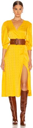 Andamane Deva Midi Dress in Floral Yellow | FWRD