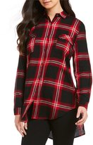 Gibson & Latimer Plaid Button Up Blouse