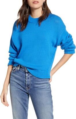Treasure & Bond Oversize Cotton Blend Sweater