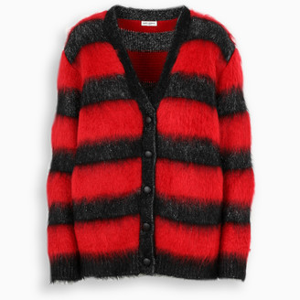 Saint Laurent Striped Mohair cardigan