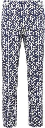 Prada Graphic Print Cropped Trousers
