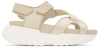 MM6 MAISON MARGIELA Off-White Multi Strap Sandals