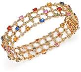 Bloomingdale's Multi Sapphire and Diamond Bracelet in 14K Yellow Gold - 100% Exclusive