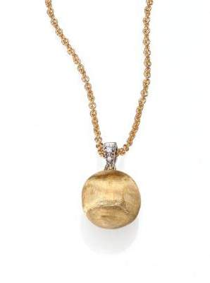 Marco Bicego Delicati Diamond, 18K Yellow& White Gold Sphere Pendant Necklace