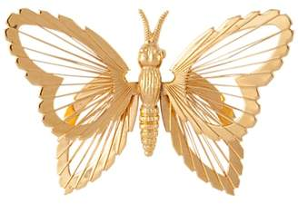 Susan Caplan Vintage Monet Gold Plated Butterfly Brooch, Gold