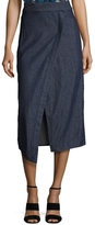 Veda Women's Ray Cotton Front Wrap Midi Skirt