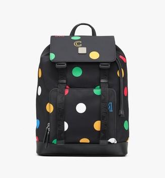 MCM Brandenburg Backpack in Polka Dot Nylon