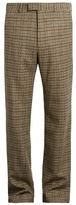 Gucci Checked Straight-leg Wool Trousers