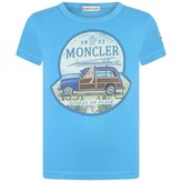 Moncler MonclerBoys Turquoise Beach Print Top