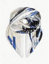 Kenzo Wave print silk scarf