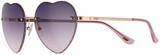 Skechers Women's Heart-Shaped Gradient Sunglasses