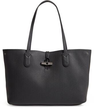Longchamp Roseau Essential Mid Leather Tote