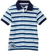 Toobydoo Positano Blue Striped Polo (Toddler & Little Boys)