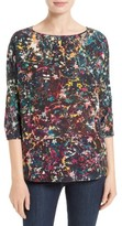 M Missoni Women's Abstract Floral Silk Top