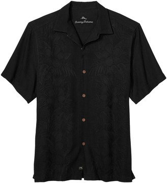 Tommy Bahama Kamari Border Button-Front Silk Shirt