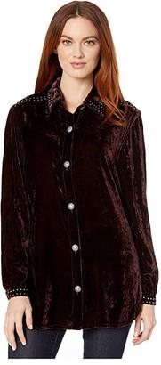 Double D Ranchwear Cummings Top (Oxblood) Women's Clothing