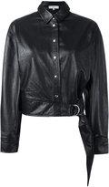 IRO shirt leather jacket